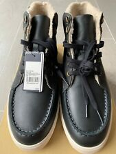 Fred Perry Upchurch Leather / Waxed Canvas Boot UK 9 EU 43 Black