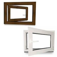 Kellerfenster Kunststoff Fenster Nussbaum Dreh Kipp Nuss Braun 2 3 fach verglast