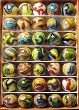 Collector Box 35 Mint JABO JOKER SALUTE Multi-Color Swirl Marbles.