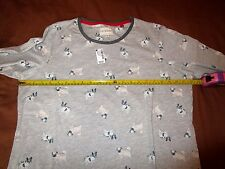 NEXT LADIES PUG DOG PYJAMAS SIZE LARGE/REG LEG SIZE 14-16ish MEASUREMENTS inPICS