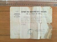 15 mars 1867 - Extrait registre Sedan - Naissance Adélaïde Wuillemet
