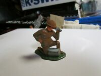 Barclay Manoil Army Kneeling with Field Phone Lead Toy Soldier