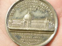 1862 Exhibition Building Opening Art & Industry WM Medal 25mm #Q45