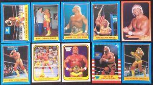 (10) 1987 Topps Hulk Hogan Wrestling Lot + 1991 Merlin Hulk Hogan + All Hogans