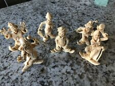 "Vintage 2 1/2"" Depose Italy Clown Figurines ~ 6 Piece Set"
