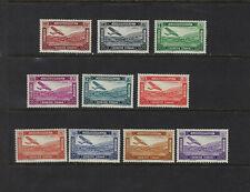 Syria Scott # C57-C66 Completed Set VF OG VLH Stamps