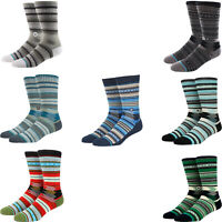 STANCE MEN'S GUADALUPE TRIBAL STRIPES CLASSIC CREW SOCKS