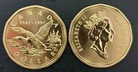 Canada 1997 Flying Loon Specimen Gem UNC Loonie!!