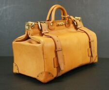 Magnificent London Tan Bridle Leather Gladstone Bag by Swaine Adeney with Key