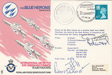 AD20C  The Blue Herons, Flown by the Blue Herons signed by all 4 Pilots