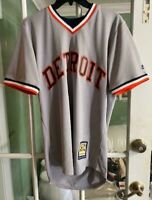 Men's Detroit Tigers MLB Cool Base Cooperstown Jersey Gray Rare Size S
