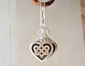 Silver Earrings Sterling Silver Ear Wires Tierracast Pewter Celtic Heart