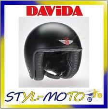 80105 Casco Davida 80-jet Standard Matt Black Taglia XXL
