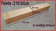 Palette 210 Kartons 2-wellig 1300 x 150 x 150 mm 130 x 15 x 15 cm Versandkartons