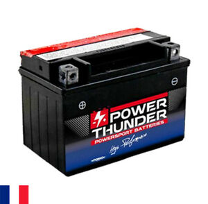 Batterie 12 V 8 Ah Power Thunder YTX9-BS CTX9-BS GTX9-BS CBTX9-BS - moto scooter