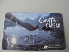 CARTE CADEAU-GIFT CARD-NOUVEAUTE NEWS 2019-NATURE & DECOUVERTES