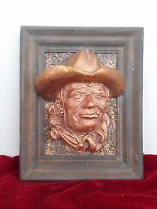 Cowboy in the wood frame by ArtLine Studio