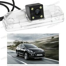Auto Rear-view CCD Car camera Parking 4LED Lights For Peugeot 3008 2013