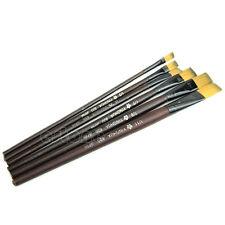 6pcs Brown Tip Nylon Paint Artist Brushes Set Flat Small/large Thin/thick Tool