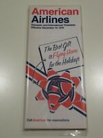 American Airlines Timetable  December 14, 1976 =
