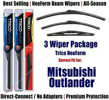 3-Pack Wipers Front & Rear NeoForm 2007-2013 Mitsubishi Outlander  16240/210/12B