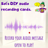 DIY Recordable Voice Greeting Card (Personalise your message) AUDIO