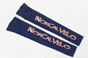 Verge Lycra Team Norcal Velo Cycling Arm Warmers Blue Medium NOS