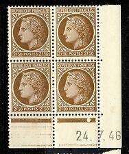 FRANCE - 1946 - N°681 2fr50 MAZELIN COIN DATÉ du 22.7.46 (1 point blanc) - TB