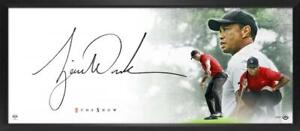 "TIGER WOODS Autographed ""The Show Masterpiece"" Framed 46"" x 20"" Display UDA"