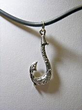 New Polynesian Maui Disney Moana Princess Fish Hook On Cord Necklace  N 908