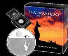 2010 RAM $1 Fine Silver Proof Coin  - Kangaroo at Sunset