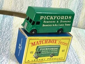 Matchbox Lesney # 46b green Guy Removals castings 2 van Pickfords VNMinVGBox