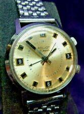 SERVICED USSR  POLJOT 18J Winding Mechanical Alarm Watch & Soviet Era Bracelet