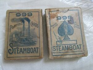( 2 ) VINTAGE 1919 STEAMBOAT PLAYING CARDS