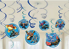 Skylanders hanging swirl party decorations kit with foil 12 pcs