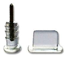 5x iPhone 11 X 8 7 6 5 Staubschutz Stöpsel Headset Lightning Staub Schutz Clear