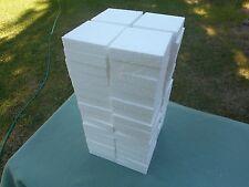 "48  pcs. Styrofoam Blocks 4"" x 4"" Square x 7/8"" Thick"