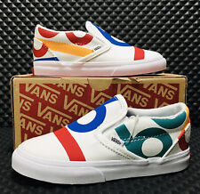 Vans Classic Slip On Deck Club (Youth/Kids Size 2 Y) White Casual Sneaker Shoes