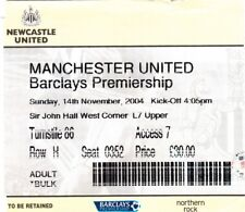 Ticket - Newcastle United v Manchester United 14.11.04
