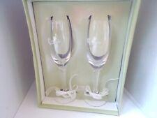 VICTORIA LYNN BRIDE & GROOM GLASSES TOASTING FLUTES
