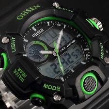 OHSEN Mens Waterproof Stopwatch Military Sport Rubber Digital Quartz Wrist Watch