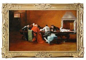 Portrait of cardinal  ecclesiastical scene by Edgar Bundy