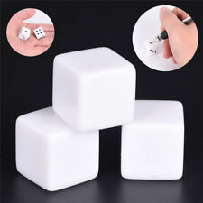 10pcs16mm blank white can write dice counting cubes square gaming dice DK