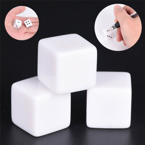 10pcs16mm blank white can write dice counting cubes square gaming dice^qi