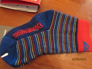 NEW Jr Altitude 2000 Nordic Socks Louis Garneau Blue Red Stripe Size S Small JRS