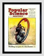 Revista De Ciencia Cubierta popular futuro Mono rueda de impresión de arte enmarcado B12X7750