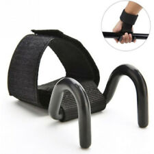 Sport Training Fitness Gloves Hook Weight Lifting Gym Workout Wrist Wrap Strap