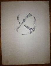 Joan Ponc lithographie 1967 Signée art abstrait Museo Reina Sofía de Madrid