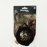 Master Lock Cable Lock, Python Adjustable Keyed Cable Lock, 6 ft. Long, Camouf..