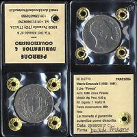 01426] RE ELETTO - VITTORIO EMANUELE II - 2 LIRE 1860 FIRENZE _ PERIZIATA